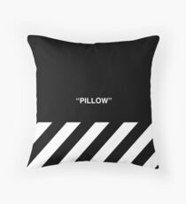 OFF-WHITE Inspired Simple Wording Illustration  Throw Pillow