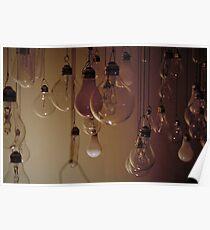 Hanging Lightbulbs Poster