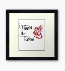 Bend the knee - Dragon Mother Fantasy Framed Print