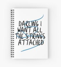 shawn mendes strings Spiral Notebook