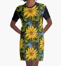 Sonnenblume in gelb T-Shirt Kleid