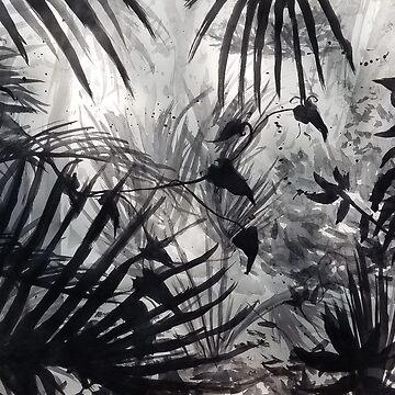 Ink Wash Foliage by Dyceus