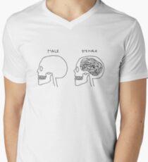 Fun Feminist Cartoon Men's V-Neck T-Shirt