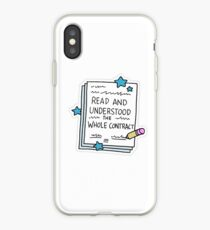 """Read the Contract"" Little Achievements iPhone Case"