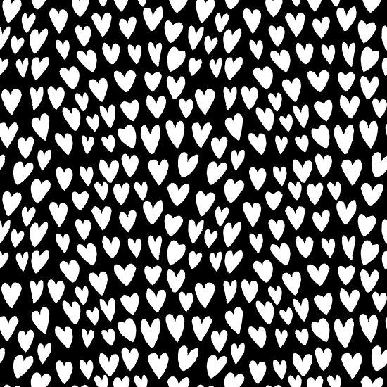 Pósters Estampado De Linóleo Linocut Corazones Minimalista Corazón