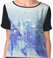 new york city triangle geometric design 2 Chiffon Top