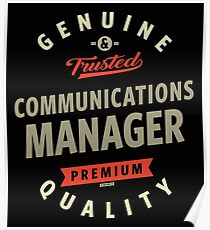 Communications Manager Poster