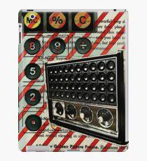 geeky nerdy retro calculator vintage shortwave radio  iPad Case/Skin