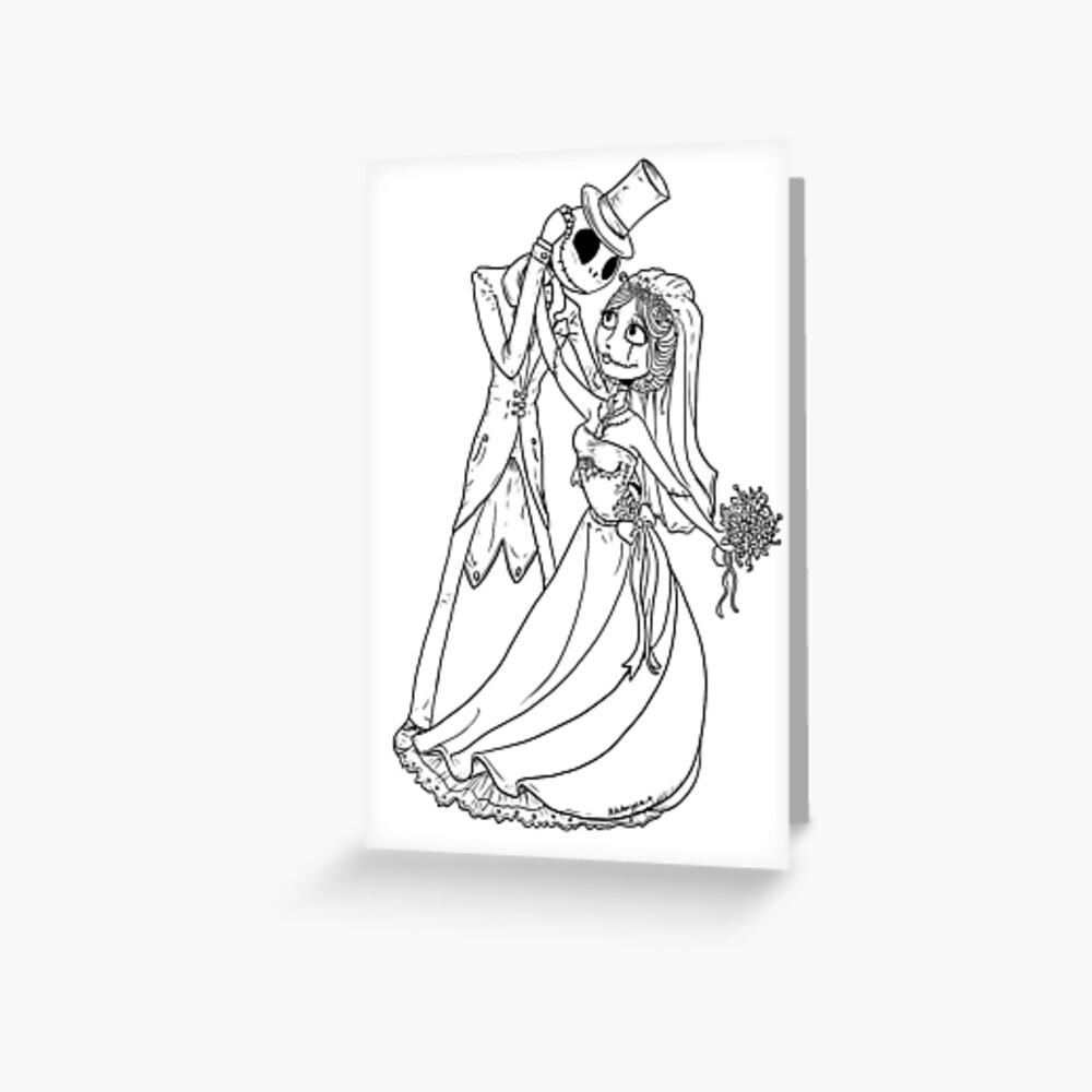 Eine Albtraum-Hochzeit Grußkarte