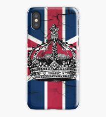 British union jack flag jubilee vintage crown  iPhone Case/Skin