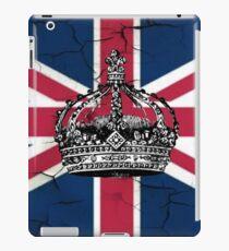 British union jack flag jubilee vintage crown  iPad Case/Skin