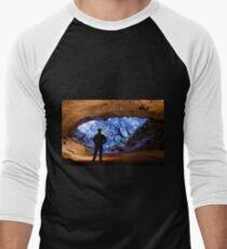 Stockyard Gully Tunnel Cave Eneabba Men's Baseball ¾ T-Shirt