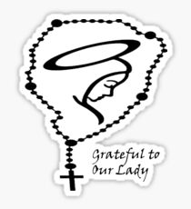Grateful to Our Lady Sticker