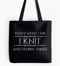 Bolsa de tela Tejer regalos para tejedores - Funny I Knit & I Know Things