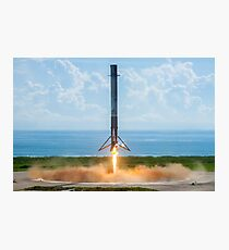 SpaceX Falcon 9 Landing Photographic Print