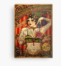 CHAPEL TATTOO; Vintage Body Advertising Art Metal Print