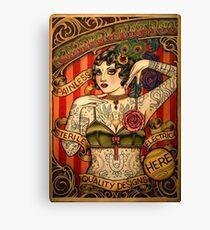 CHAPEL TATTOO; Vintage Body Advertising Art Canvas Print