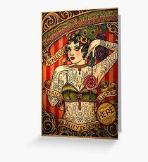 CHAPEL TATTOO; Vintage Body Advertising Art Greeting Card