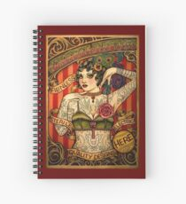 CHAPEL TATTOO; Vintage Body Advertising Art Spiral Notebook