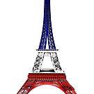 Eiffel Tower - Blue White & Red - Tour Eiffel  - Blue Blanc et Rouge by Buckwhite