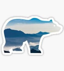 BEAR IN MOUNTAINS Sticker