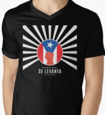 Puerto Rico Se Levanta Men's V-Neck T-Shirt