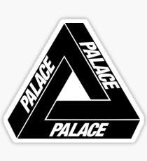 Palace Black Sticker