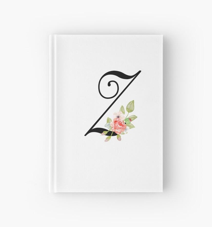 Floral Monogram Fancy Script Letter Z