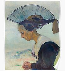 LINER, CARL AUGUST (St. Gallen 1871 - 1946 Appenzell) Appenzell Woman praying. 1929. Poster