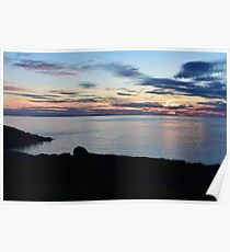 Sunset on Red Point Poster
