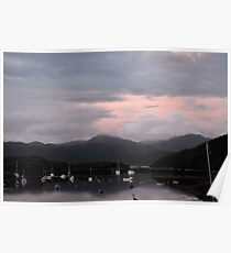 Badachro Bay Sunset  Poster