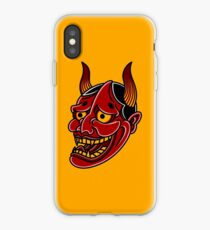 Japanische Hannya Demon Noh Theater Maske iPhone-Hülle & Cover