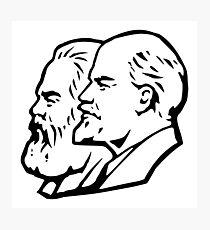 Marx and Lenin Photographic Print