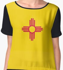 New Mexico, Flag of New Mexico, USA, America, Pure & Simple. Women's Chiffon Top