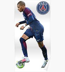 Kilian Mbappé PSG Poster