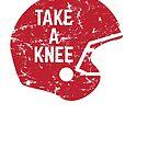 Take a Knee Football Helmet by yelly123