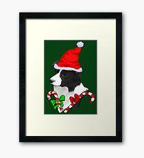 Border Collie Christmas Gifts Framed Print