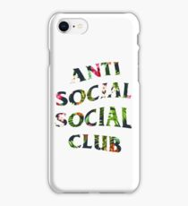 Anti Social Social Club Floral iPhone Case/Skin