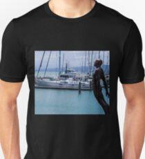 Leaning Man Sculpture Unisex T-Shirt