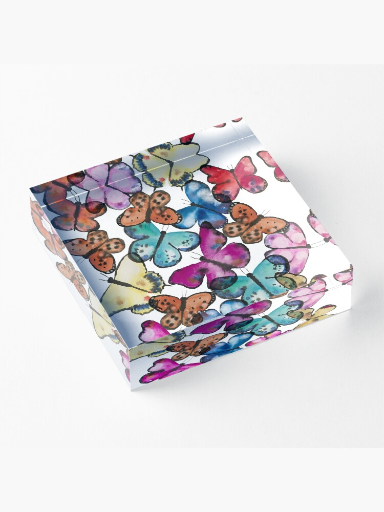 Alternate view of Butterfly Dance Acrylic Block