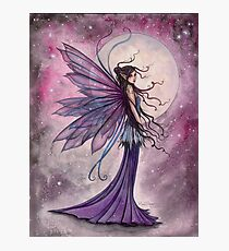 Starlit Amethyst Celestial Fairy Fantasy Art by Molly Harrison Photographic Print