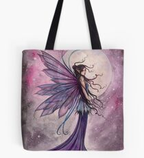 Starlit Amethyst Celestial Fairy Fantasy Art by Molly Harrison Tote Bag
