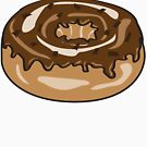 Chocolate donut by Shannon Kennedy