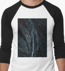 Abstract River in Iceland - Landscape Photography Men's Baseball ¾ T-Shirt
