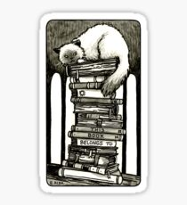 Pegatina Estilizado Cat Bookplate
