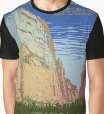 Zion National Park Vintage Poster Graphic T-Shirt