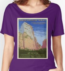 Zion National Park Vintage Poster Women's Relaxed Fit T-Shirt