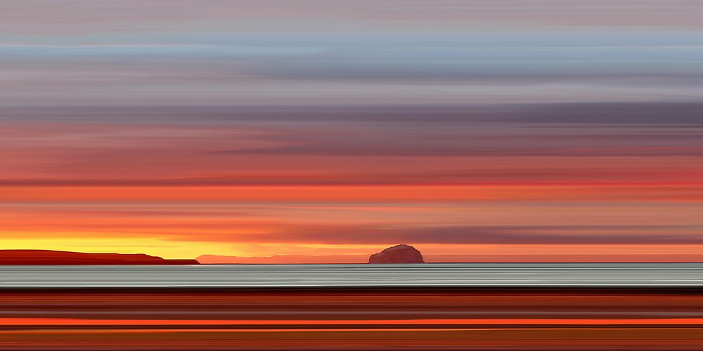 Bass Rock Dawn by bluefinart