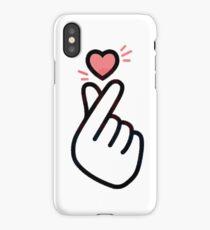 Korean Finger Heart iPhone Case/Skin
