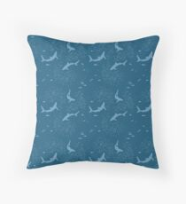 Sharks and fishes Floor Pillow
